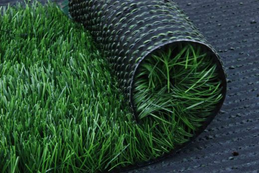 Artificial grass rolled up
