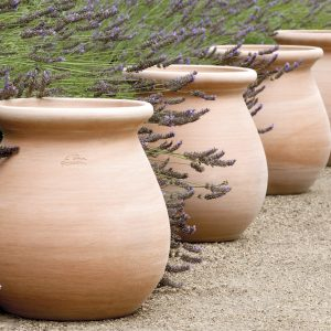Set of four goicoechea pots