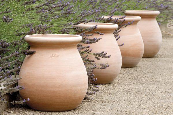 Set of four goicoechea pots