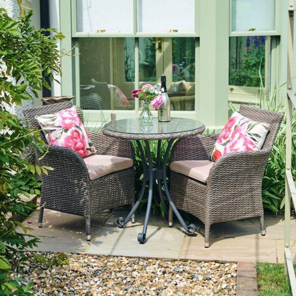 Monaco Oak 2 seat dining set