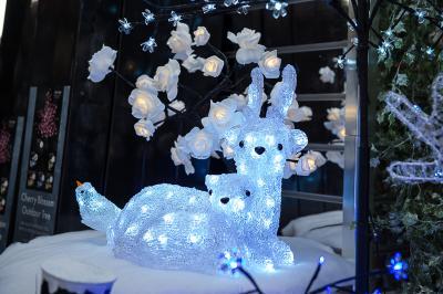 Christmas 2017 Lit Reindeer & Fawn