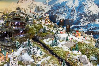 Model Village Alpine Scene