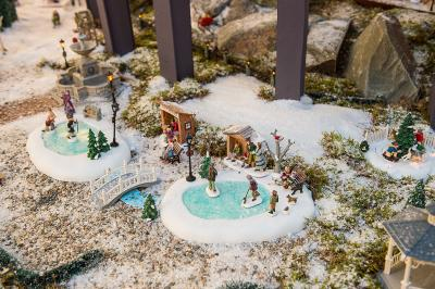 Model Village Clearing the Snow