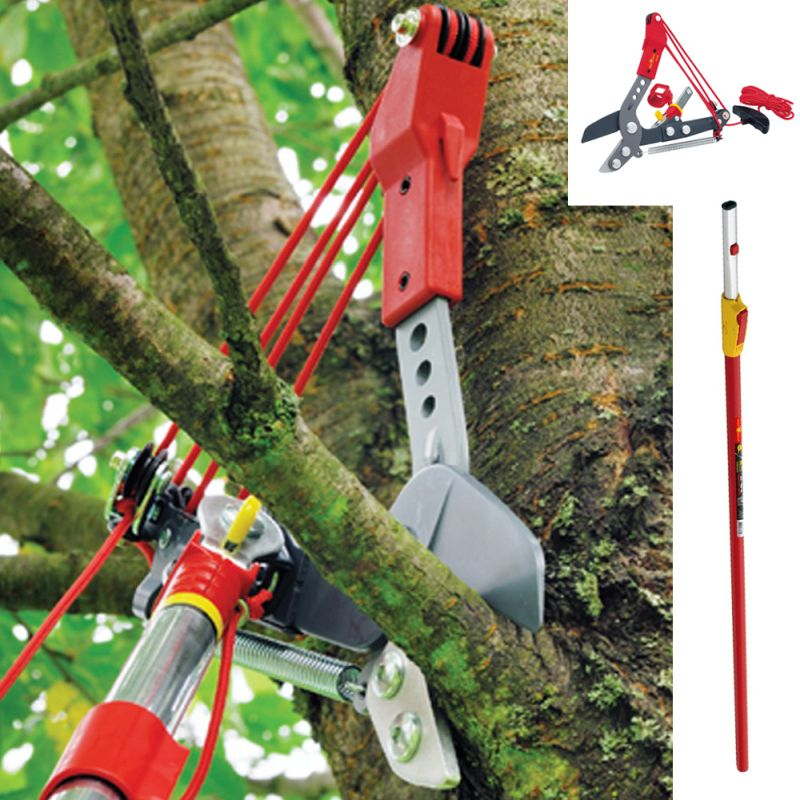 Wolf Garten Multi-Change® Anvil Tree Lopper & Telescopic Handle 2.2-4m