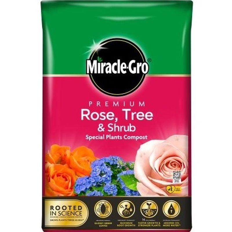 Miracle-Gro® Premium Rose, Tree & Shrub Compost 40ltr