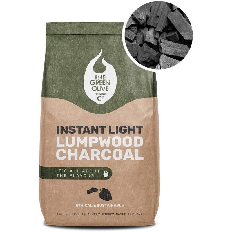 The Green Olive Firewood Co. Instant Light Charcoal 2x1kg