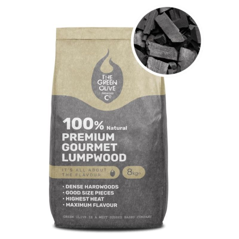 The Green Olive Firewood Co. Natural Lumpwood Charcoal 8kg