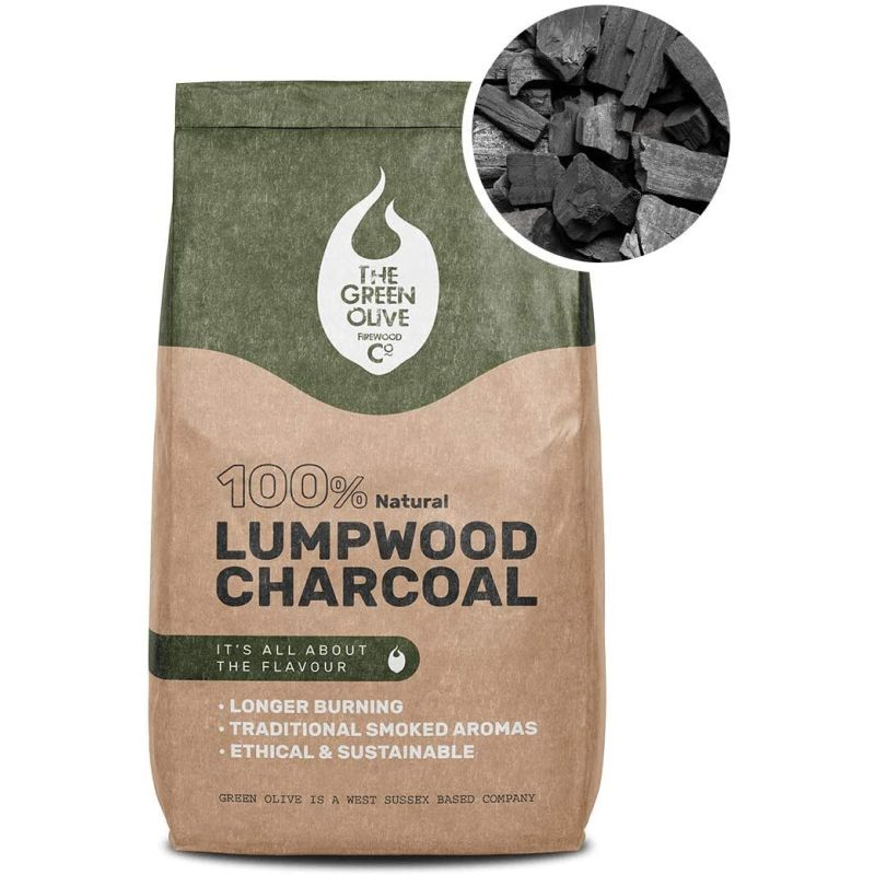 The Green Olive Firewood Co. Natural Lumpwood Charcoal 4kg